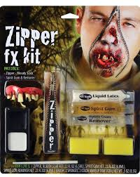 zipper face make up kit for zombies by fun world karnival