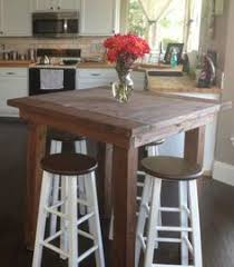 Furniture Old Rustic Small High Round Top Kitchen Table And Chair - Bar table for kitchen