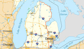 Blue Line Chicago Map by U S Route 23 In Michigan Wikipedia