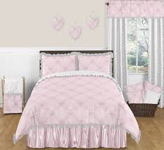 elegant light pink butterfly bedding damask print 3pc full queen