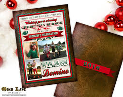 Football Christmas Card Printable Christmas Card Photo Card