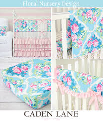 Floral Crib Bedding Sets This Is A Gorgeous Pink And Aqua Floral Crib Sheet The