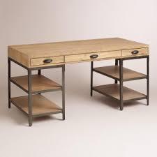 L Shaped Metal Desk Furniture Wood And Metal Desk For Office Needs Www