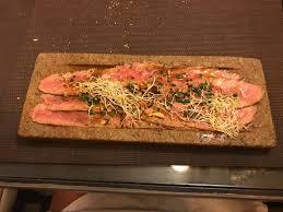 cuisine de a az carpaccio de porc ibérique picture of restaurante az zait