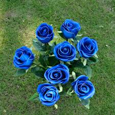 blue roses for sale hot sale pu 24 8 real touch feel artificial flowers