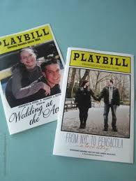 playbill wedding program playbill theater wedding invitation 3 50 via etsy getting m
