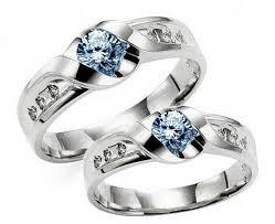 model cincin blue safir sepasang cincin blue safir cincindepok cincin nikah