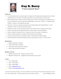 Sample Resume Format Accounts Executive by Real Estate Resume Examples Free Resume Example And Writing Download