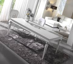 Glossy White Desk by Glossy White Dining Table With Silver Leaf Carving