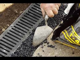 how to install a channel drain youtube