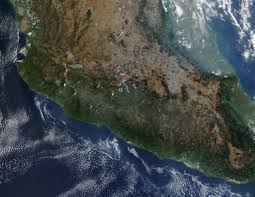 Central Mexico Map by Fires In Central Mexico Natural Hazards