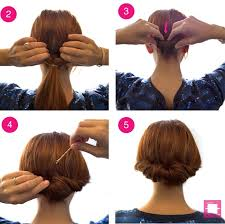 tuck in hairstyles how to get a tuck and roll chignon hairstyle stylecaster