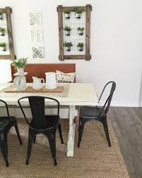 white farmhouse table black metal chairs farmhouse dining room