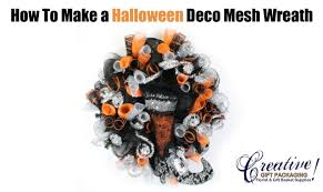 how to make a halloween themed deco mesh wreath youtube