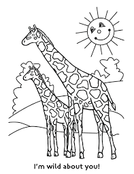 printable giraffe coloring pages kids free birthday cards pattern