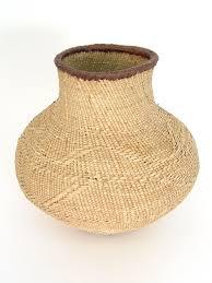 tonga basket oval shape hand woven in zimbabwe