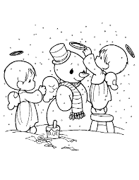printable 13 precious moments christmas coloring pages 7337