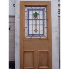 victorian glass door panels sd055 victorian edwardian stained glass 3 panelled door with