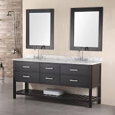 Bathroom Vanities Double Sink 72 by Shop Design Element London Espresso Undermount Double Sink