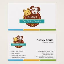 pet sitting business cards templates zazzle