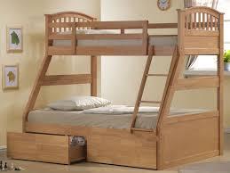 Joseph Maple Three Sleeper Maple Wooden Triple Sleeper Bunk Bed - Triple bunk bed wooden
