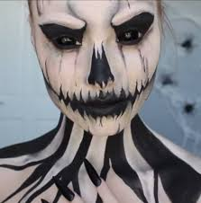 Halloween Skeleton Faces by 35 Easy Halloween Makeup Ideas U0026 Tutorials 2017 Cool Halloween