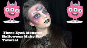 Monster Halloween by Three Eyed Monster Halloween Make Up Tutorial Natalietutorials