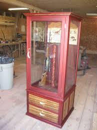 Wood Gun Cabinet Hand Made Exotic Wood Gun Cabinet By Ore Dock Design Custommade Com