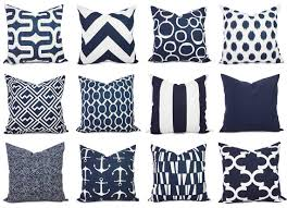 Throws And Cushions For Sofas Navy And White Pillow Cover Navy Blue Throw Pillow Cover Navy