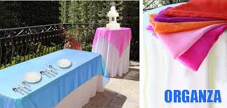 organza table overlays premier table linens