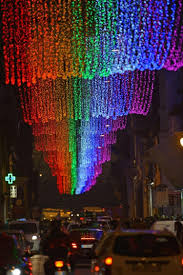simple decoration rainbow christmas lights cause furor in rome ny