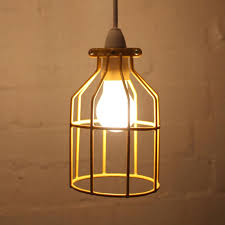 Cage Light Pendant Industrial Bird Cage Light Pendant By Mulbury