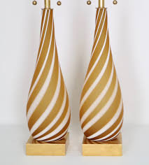 Murano Glass Lighting Pendants by Pair Murano Glass Lamps In Butterscotch And White Color