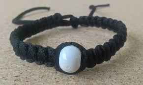 black prayer bracelet images Handmade christian black prayer rope bracelet with white bead jpg