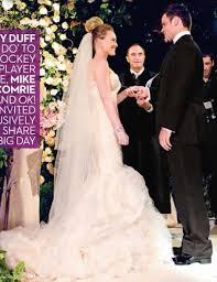 Vera Wang Wedding Dresses Hilary Duff U0027s Vera Wang Wedding Dress Popsugar Celebrity