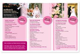 wedding planner packages brochure design exles graphic design for brochures