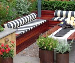 patio bench cushions interior design