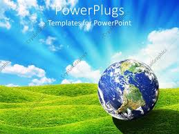 templates powerpoint earth powerpoint template daylight depiction of the world or earth globe