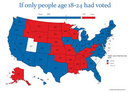 Election Map 2016 by The Electoral Map If Only Millennials Had Voted U2013 New Maps Based