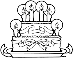 Birthday Cake Color Pages Activity Shelter Birthday Cake Coloring Pages