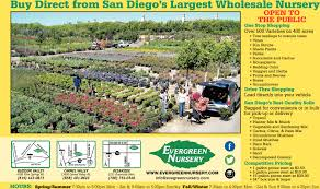 open to the public evergreen nursery oceanside ca