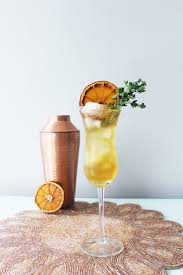 french 75 garnish the thyme line whiskey muse