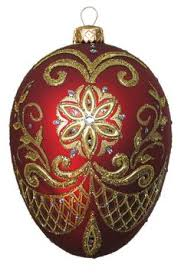 faberge inspired glass ornament egg made in poland