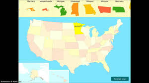 Nebraska Usa Map by Usa Map Puzzle App Demonstration Youtube