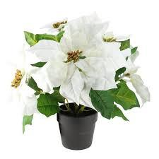white poinsettia 11 white glitter poinsettia flower artificial christmas spray