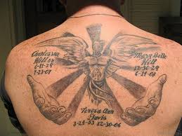51 prettiest memorial angel tattoos on back