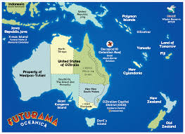 Map Of Oceania So I Made A Map Of 31st Century Oceania Imgur