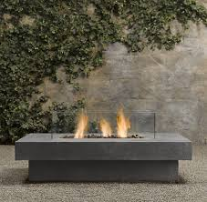 Restoration Hardware Fire Pit by Laguna Concrete Propane Fire Table Rectangle Modern Firepits