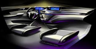 lexus interior sketch honda odyssey concept car body design