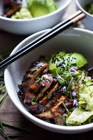 sesame ribbon japanese farm style grilled teriyaki chicken bowl receta